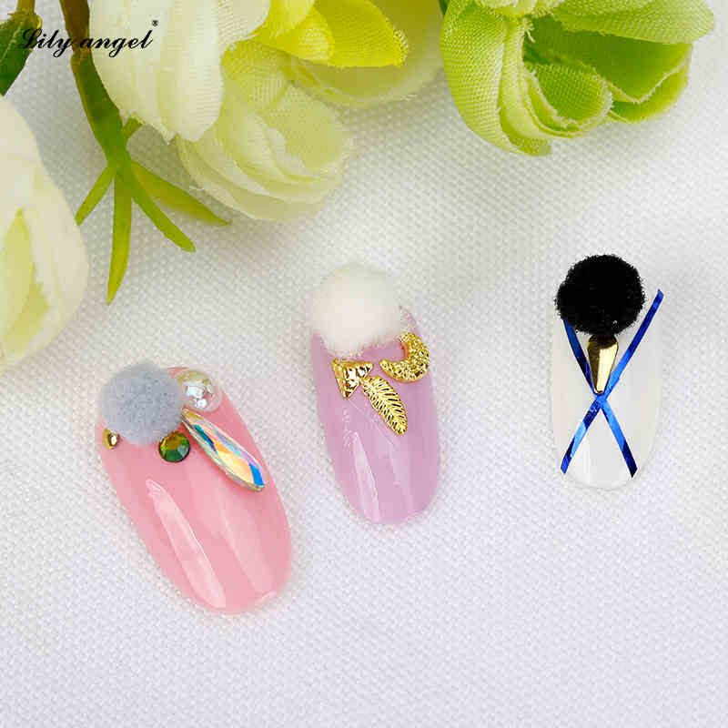 New Arrivel 10 PCS Multicolor Fur Ball Nail Art Tips DIY Jewelry for ...