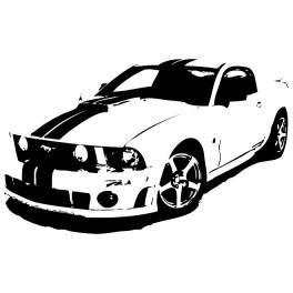 Ford Mustang Free Free Vector 610 Printing Pinterest