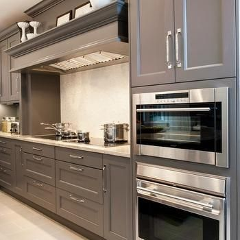 Gray Cabinets, Contemporary, kitchen, Aidan Design | kitchen ... on