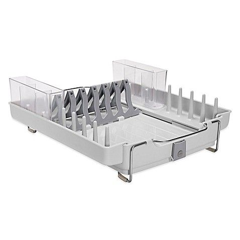 Oxo Good Grips Folding Stainless Steel Dish Rack Endearing Oxo Good Grips® Foldaway Dish Rack  Dish Racks Room Kitchen And Inspiration Design