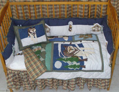 Wolf Crib Bedding Set Snow Dog Treasures And Finds