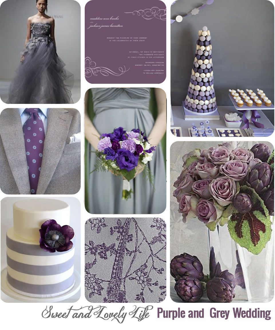 Purple And Grey Wedding Grey Purple Wedding Wedding Theme