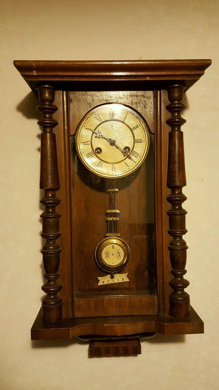 Junghans Antique German Wall Clock Regulator Style Circa 1890 1900