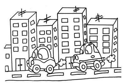 Resultado De Imagem Para Desenho Para Colorir De Paisagem Urbana E