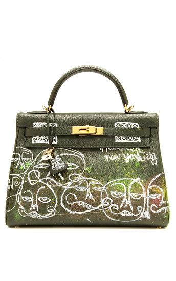 The graffiti'd Hermes Birkin in the Punk collection by Moda Operandi is actuaully kind of cute.