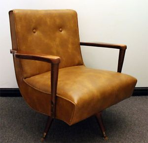 Peachy Vintage Mid Century Swivel Rocking Lounge Chair Armchair Machost Co Dining Chair Design Ideas Machostcouk