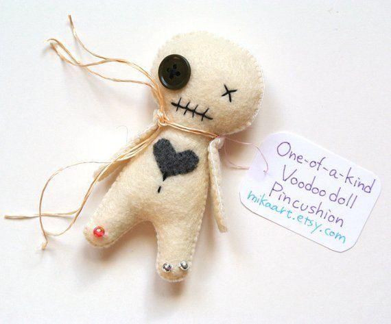 Voodoo Doll Weird Gift Halloween Decor Funny Birthday Handmade Pincushion For Her Vo