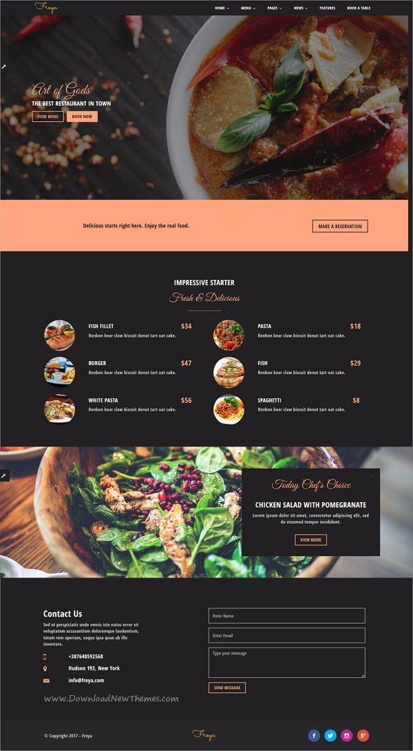 Pin By Dooron Attokurov On Best Responsive Html Template Food Website Design Food Web Design Restaurant Website Design
