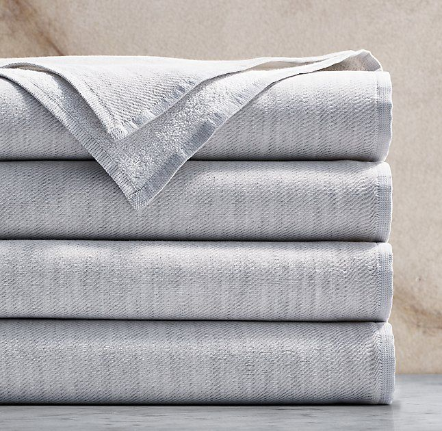 Heathered Cotton-Linen Reversible Towel Collection