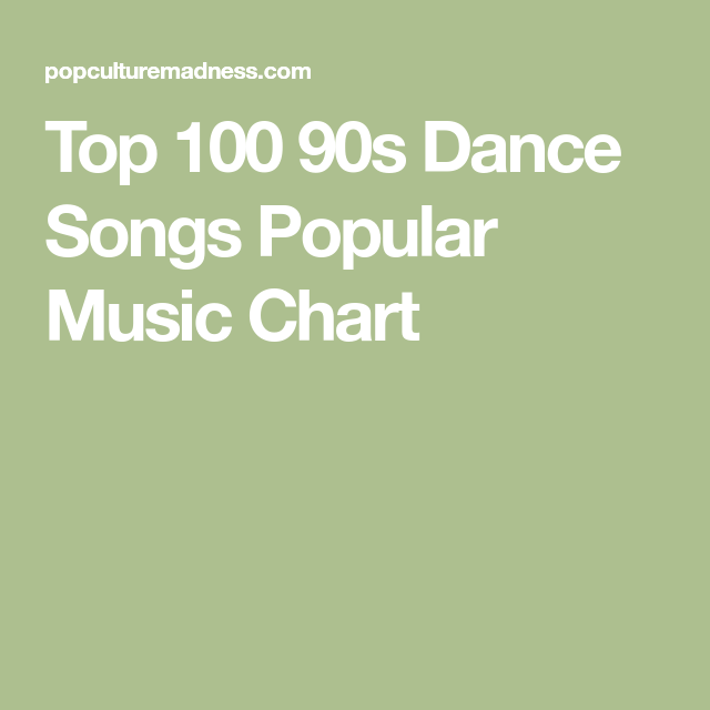 Top 100 90s Dance Songs Popular Music Chart | Wedding Ideas