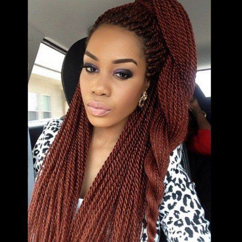 40 Senegalese Twist Hairstyles for Black Women | herinterest.com ...