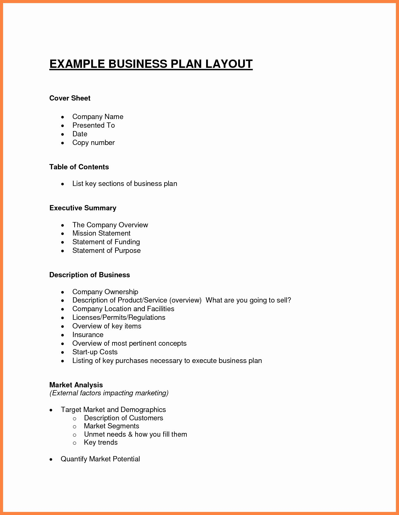 Summary Plan Description Template Inspirational Business