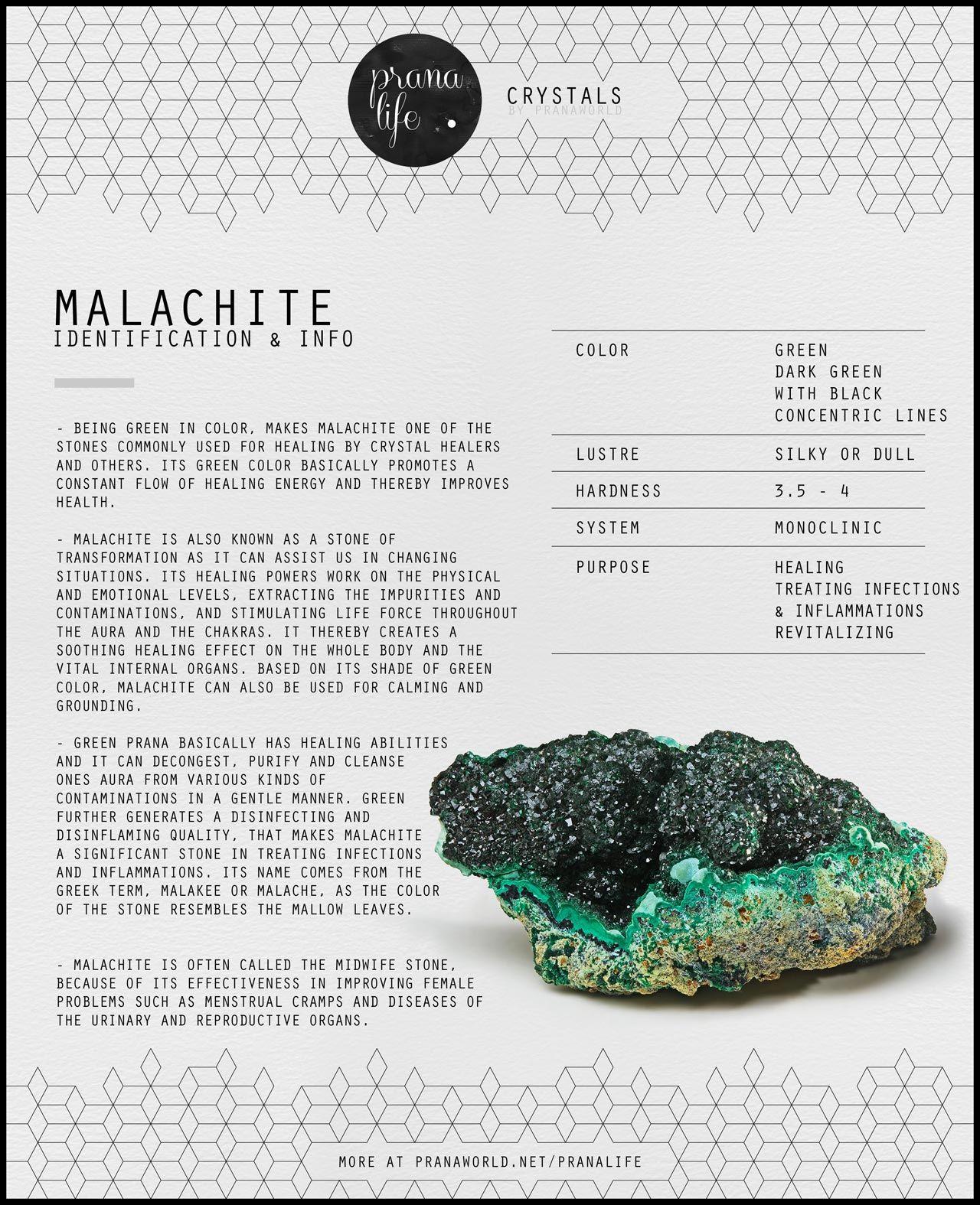 Prana Life Malachite Pranalife Pinterest Crystals