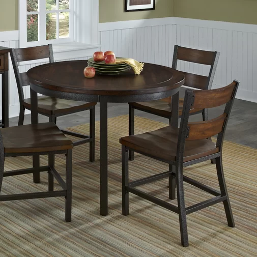 Severine Ladder Back Side Chair In Chestnut In 2020 Dining Table In Kitchen Dining Table Solid Wood Dining Chairs