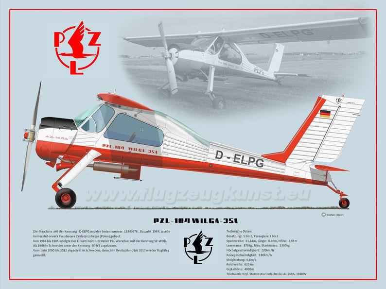 PZL-104 WILGA 35A Motorfliegerclub Jahnsdorf e.V., 2014  www.flugzeugkunst.eu