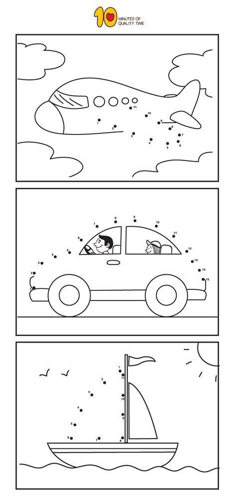 Printable Dot To Dot Worksheets For Kindergarten