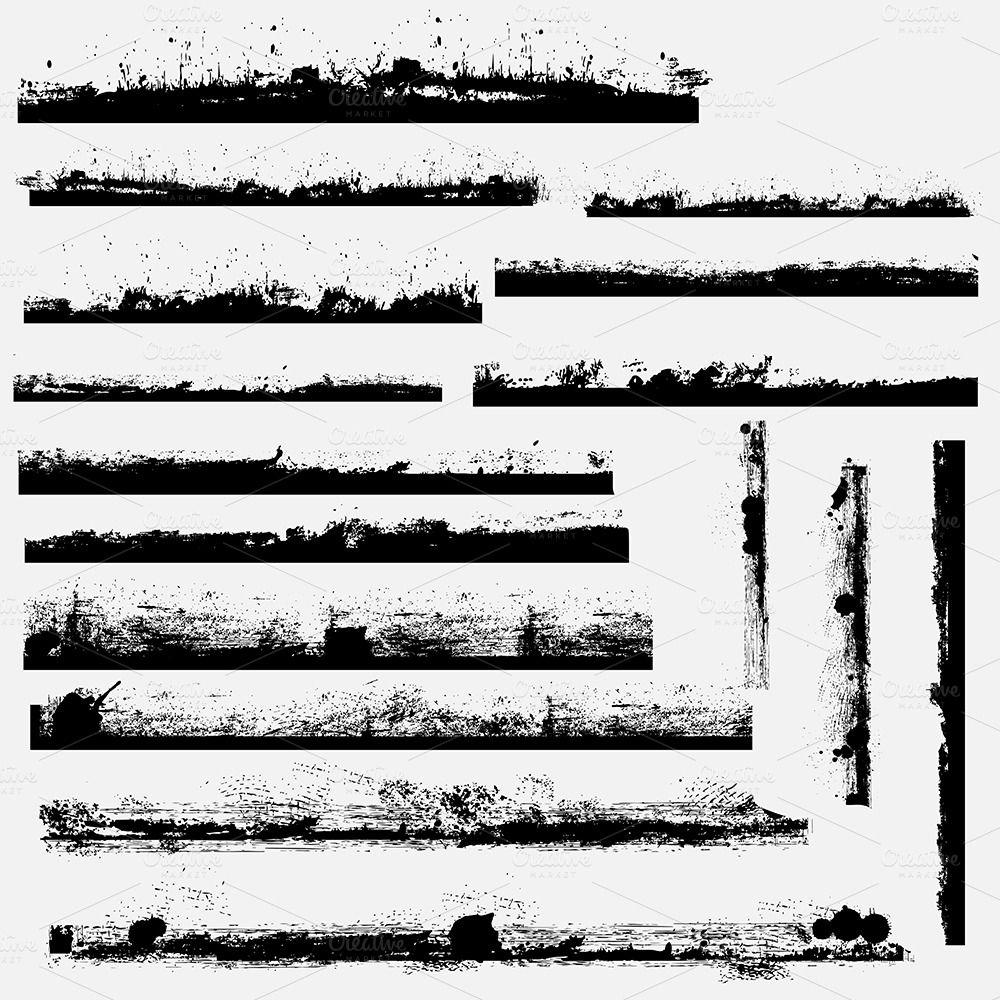 Grunge Borders Brushes | Photoshop and Digital art