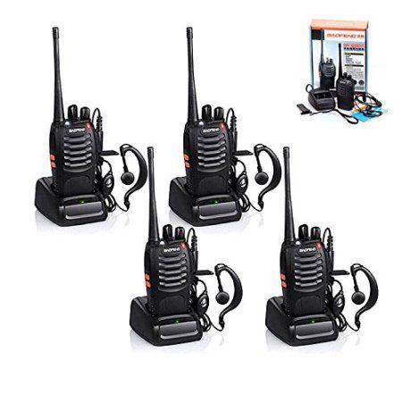 4 PCS Practical Baofeng Hand-Funkgert Walkie Talkie BF-888S