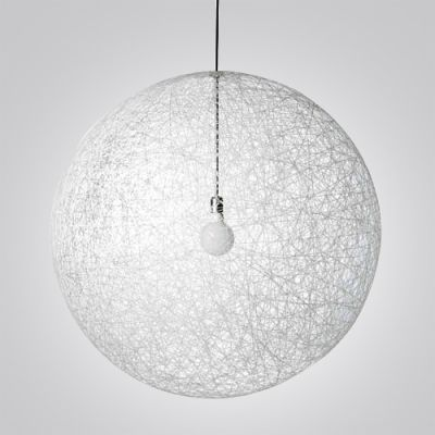 country style linen wire globe 1light pendant light - Globe Pendant Light