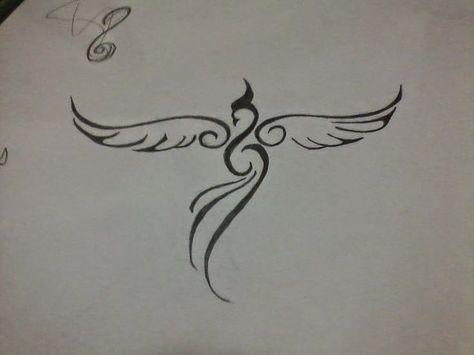 33 Minimalist Phoenix Tattoo Ideas The Phoenix Is A Symbol Of A
