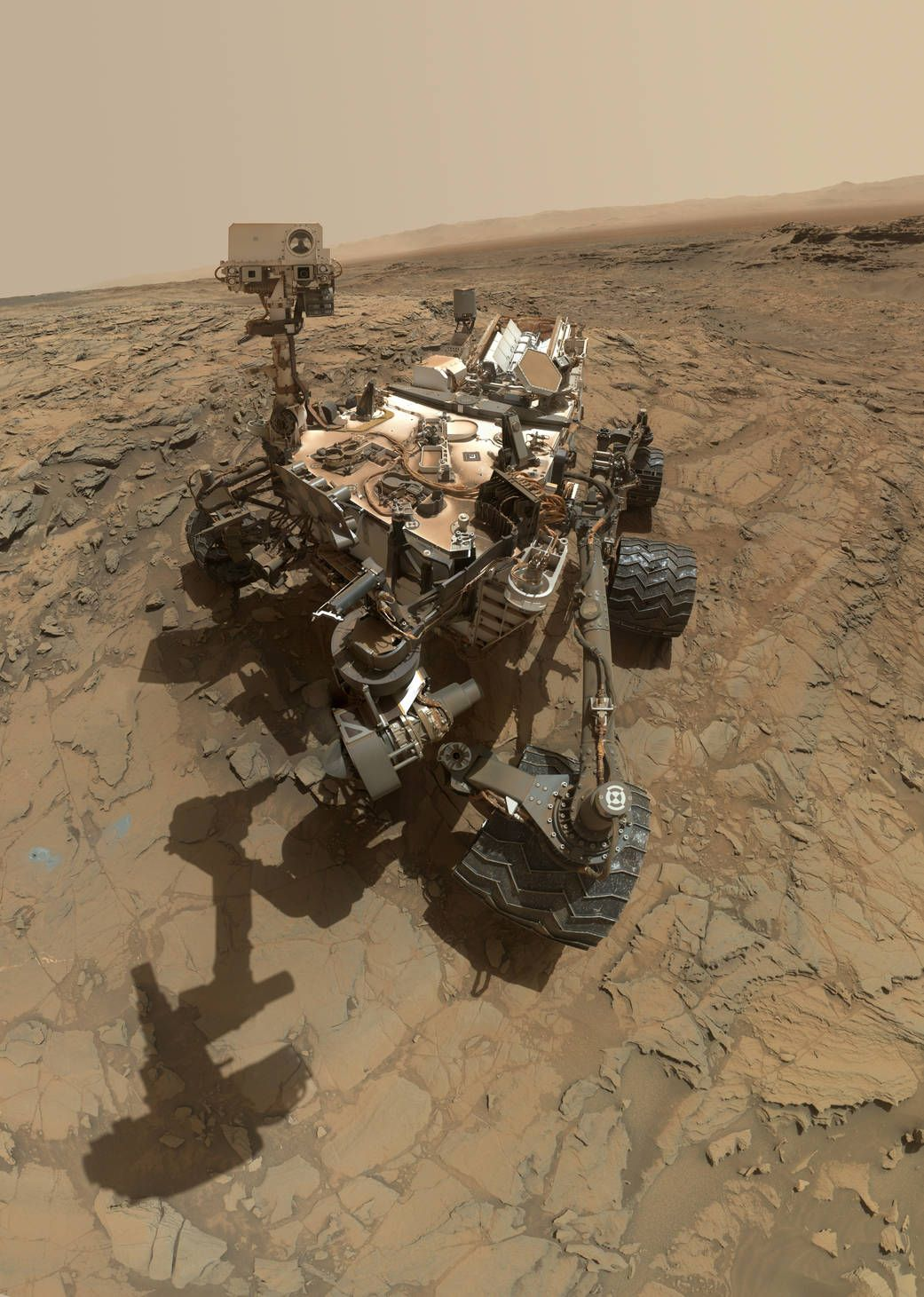 Curiosity Self-Portrait at 'Big Sky' drilling site