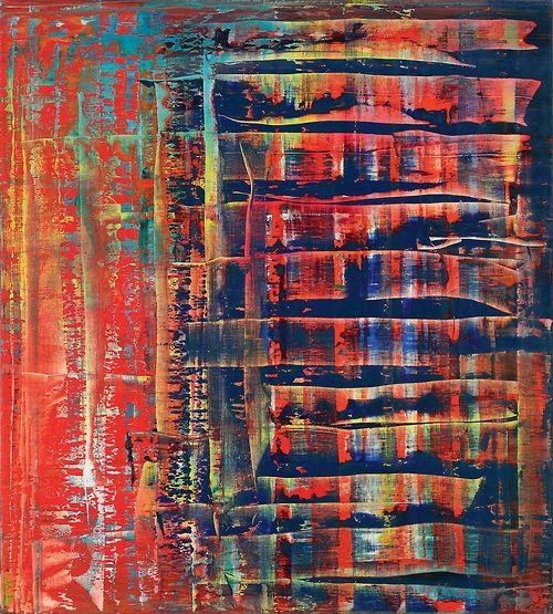 gerhard richter abstraktes bild abstrakte bilder moderne kunst abstrakt malerei acryl berühmte künstler