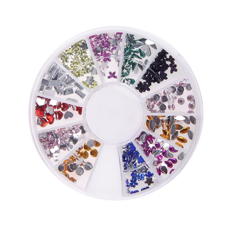 Non Hotfix Acrylic Loose Rhinestones Multicolor Many Shape Silver ...