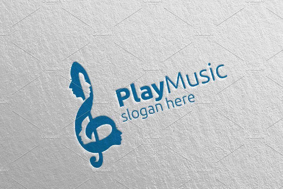 Music Logo With Note And Face 52 Music Logo Sing Movie Characters Logos