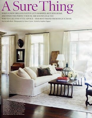 New Orleans Home Designer Tommy Clements Paint Benjamin Moore Manchester Tan Rug Vintage Turkish Kilim Curtains Are Ralph Lauren Linen