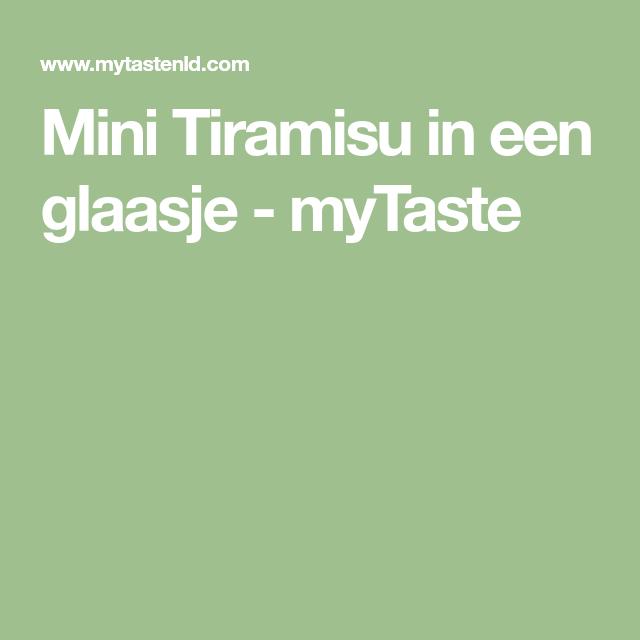 Mini Tiramisu in een glaasje - myTaste