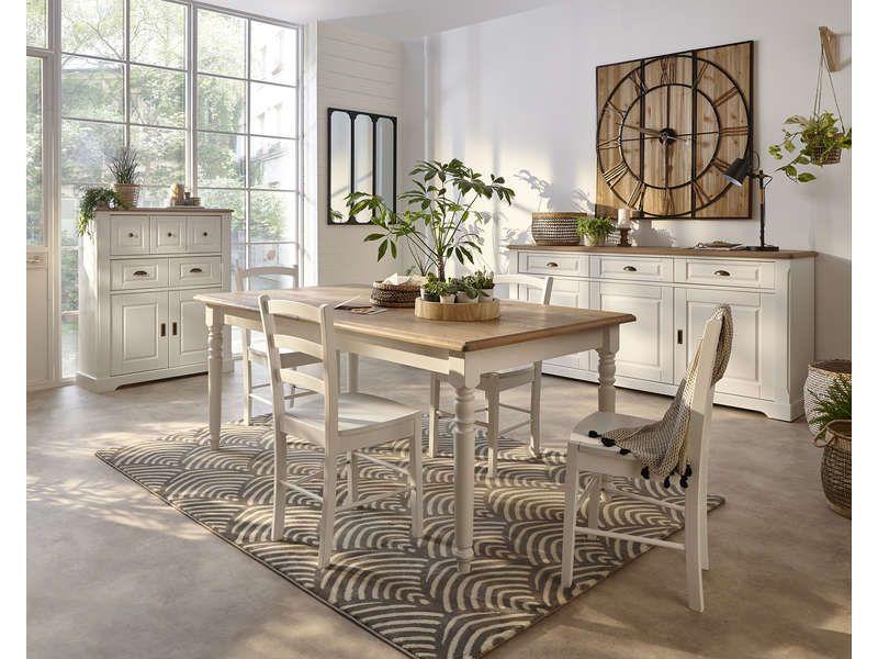 Table Rectangulaire Extensible 180 Cm 670659 Buffet Conforama Conforama Meuble Rangement