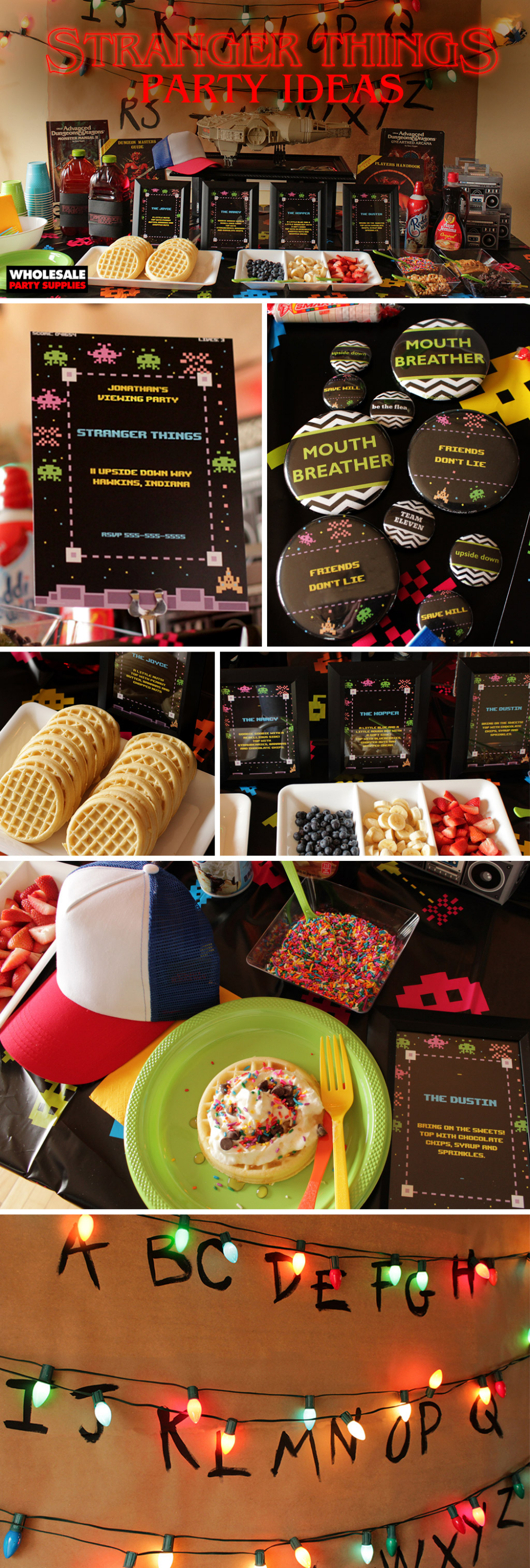 Stranger Things Party | Party Ideas & Activities by Wholesale Party Supplies