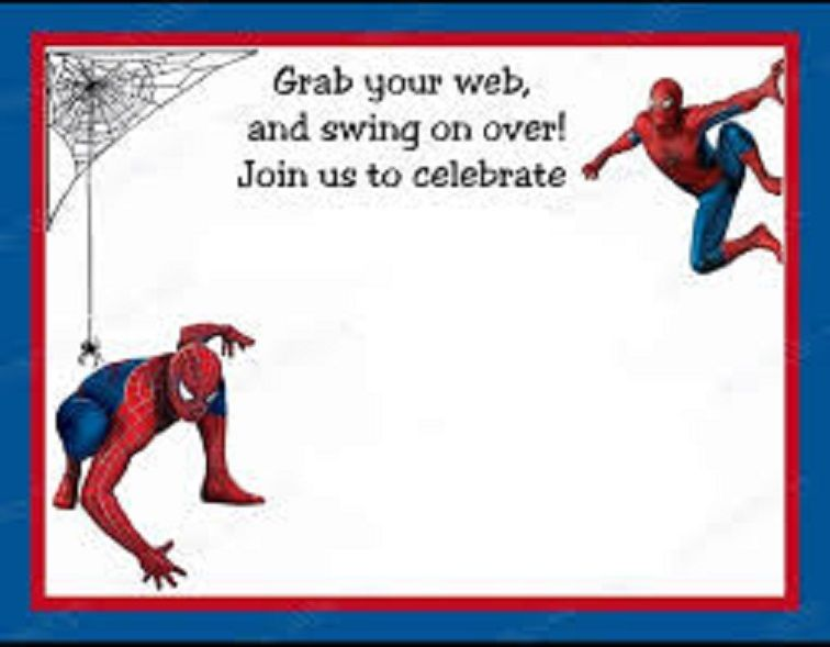 create spiderman birthday invitations
