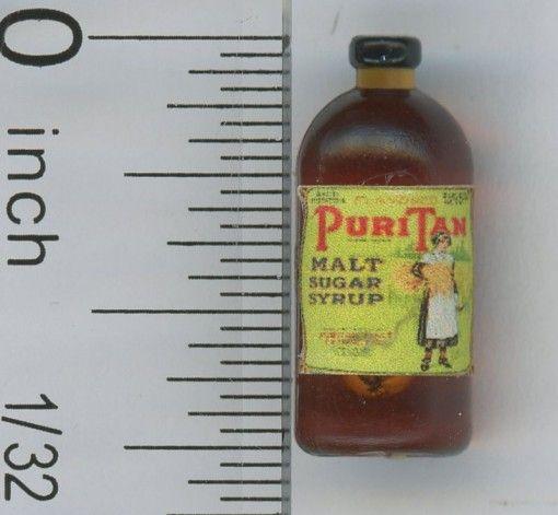 Dollhouse miniature food vintage label 1:12 Apple Cider Vinegar NEW