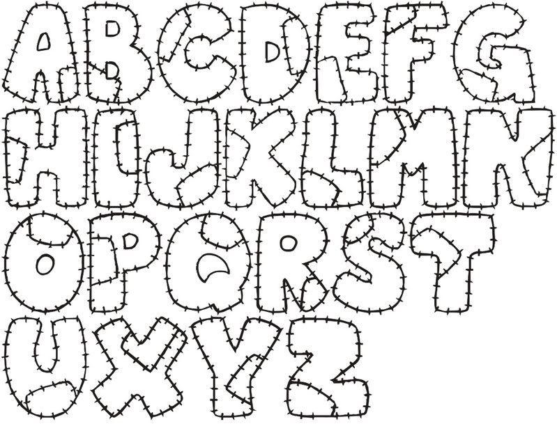 Letras Bonitas Para Imprimir Molde de letras grandes y | letras ...