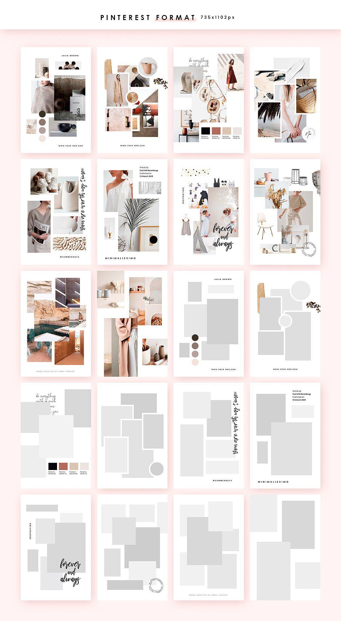 Feminine Mood Board Templates Mood Board Design Fashion Portfolio Layout Mood Board Layout