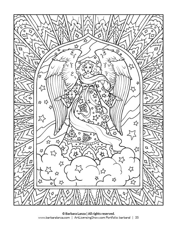 Free 92 Page Holiday Coloring Book Angel Coloring Pages Holiday