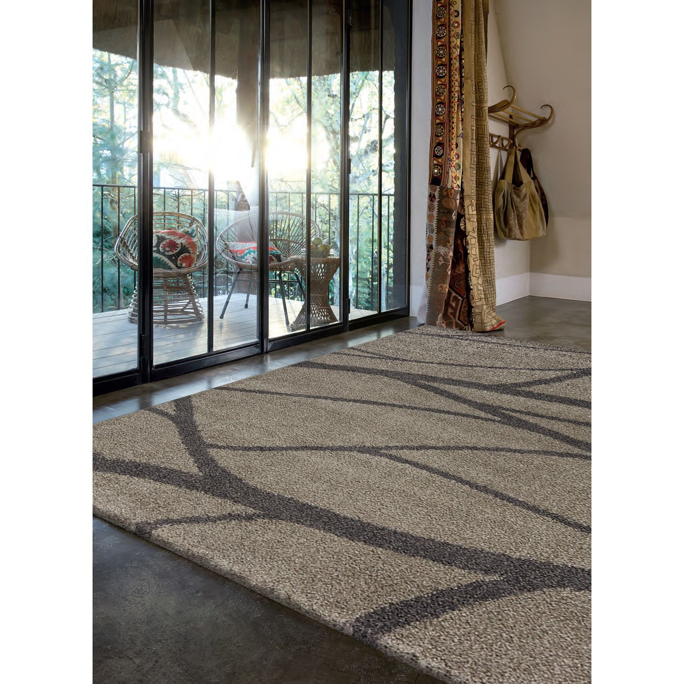 Kalora Milo Tree Branch Taupe Area Rug