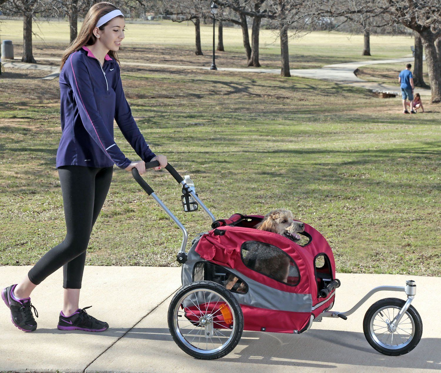 Solvit HoundAbout Classic Bicycle Trailer features a