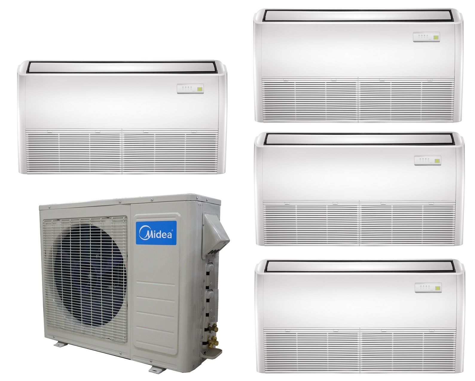 Multi Zone Heat Pump Systems Provide Outdoor Units For Two Three Four And Up To Nine Separate Zones Midea 21 Seer 4 Heat Pump Heat Pump System House Heating