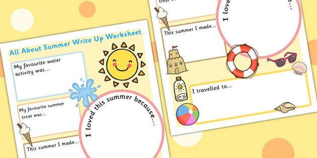 summer holiday write up worksheet beginning of the year activities. Black Bedroom Furniture Sets. Home Design Ideas