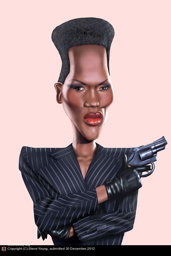 Grace Jones Caricatures 2 Bond James Bond Caricature