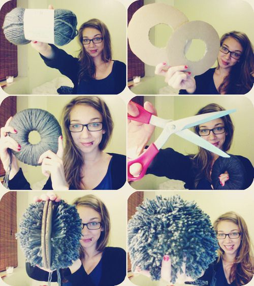 """""""Gigantic pom-pom how to by YesJess"""" - we have made little pom poms - but a huge one - yeah!"""