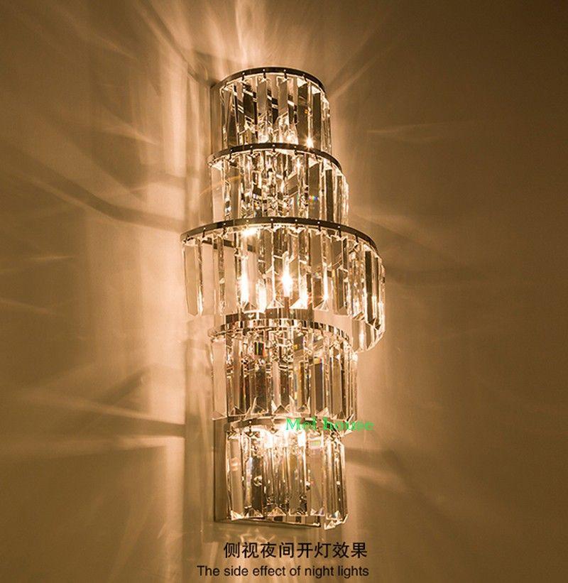 Indoor Lighting Crystal Wall Lamps Long Bar