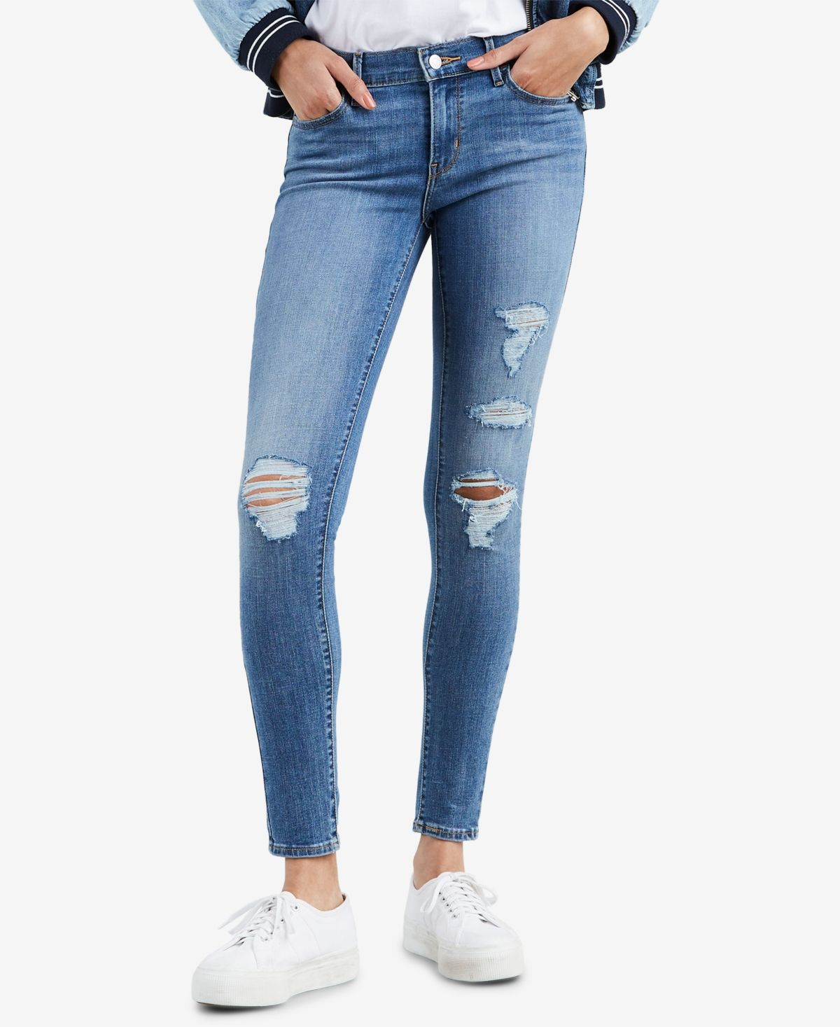 Levi's Women's 710 Super Skinny Jeans Secluded Echo