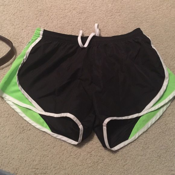 Soffe Running Shorts Black and Green soffe running shorts Soffe Shorts