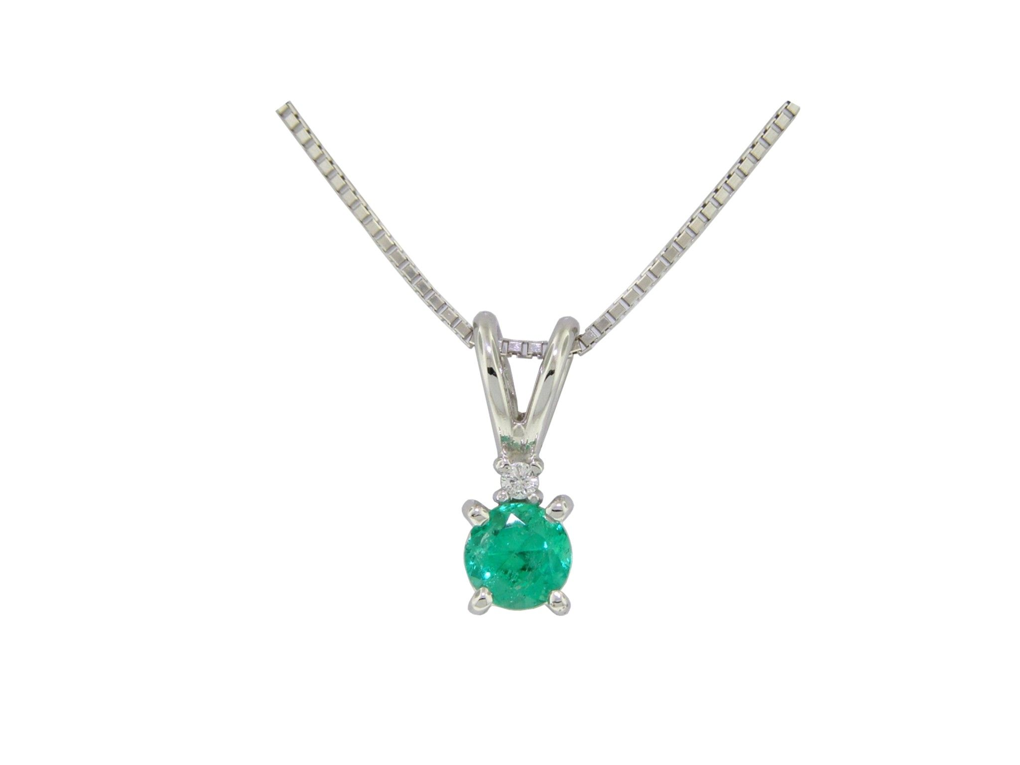 in teardrop gold diamond emerald ct pendant natural and itm