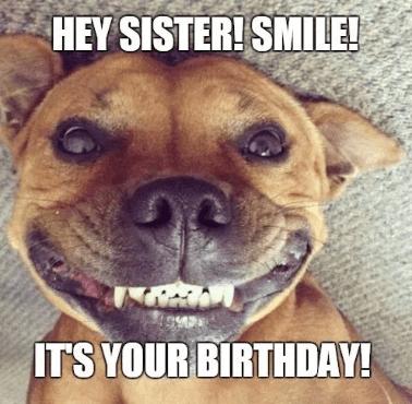 Happy Birthday Sister Meme Happy Birthday Sister Quotes Happy Birthday Sister Funny Sister Birthday Quotes Funny