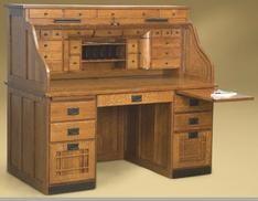 Mission Deluxe Roll Top Desk Muebles Escritorios Antiguos Escritorio Elegante