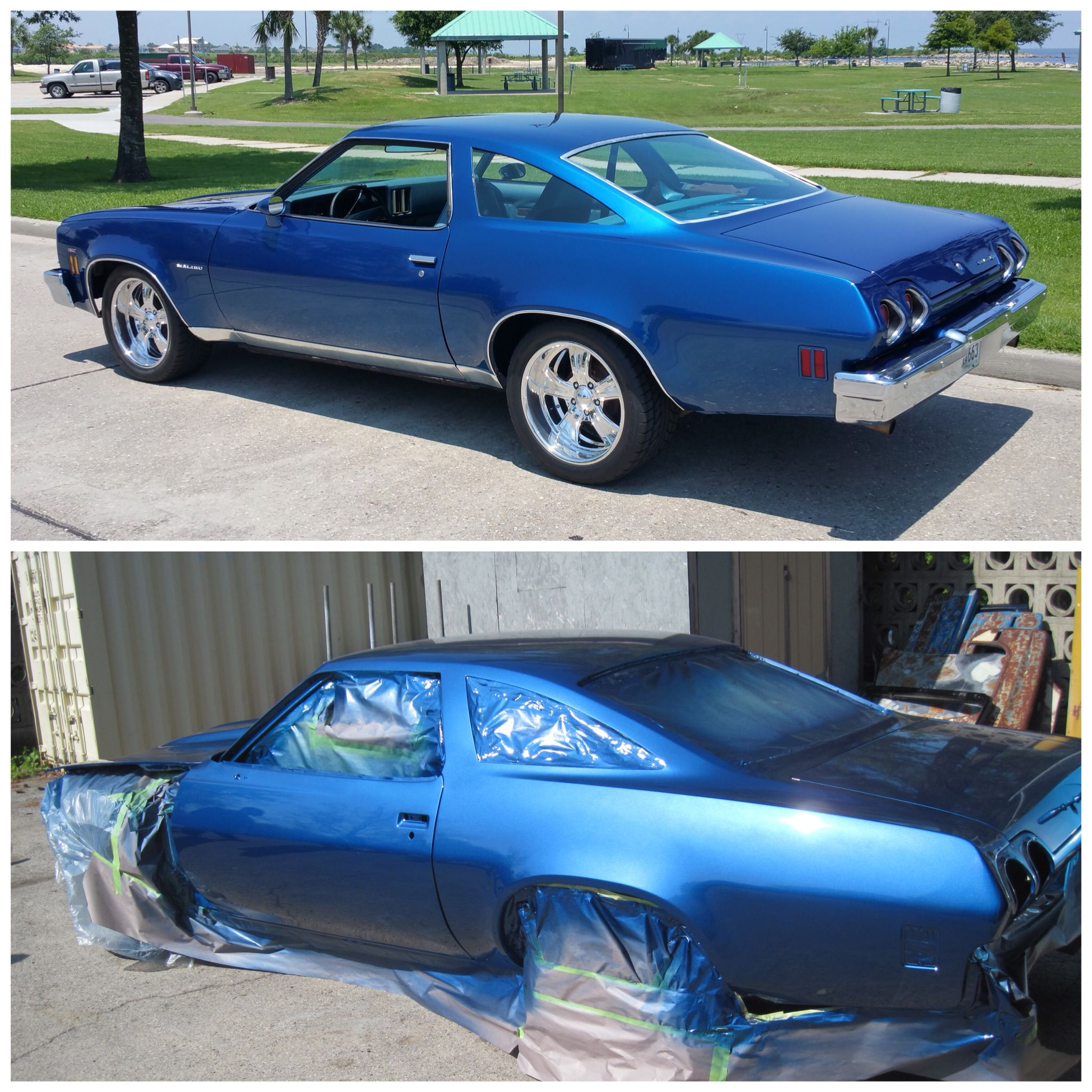 Before & After 1973 Chevrolet Chevelle SS